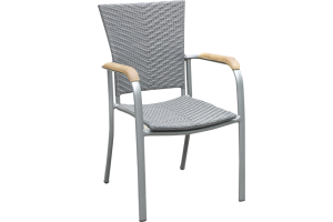 Grey Stackable Dining Chair